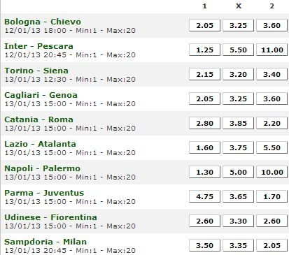 serie a scommesse