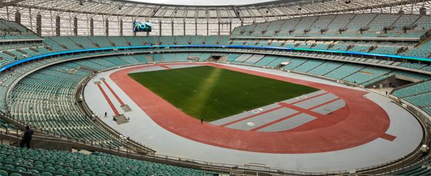Baku National Olympic Stadium di Baku banner