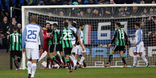 DIRETTA Sassuolo-Inter 1-0: Berardi su rigore